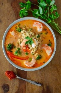Coconut Red Curry Shrimp Soup (Whole30) ~ Real Food with Dana