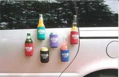 Magnetic Beer Cozies for Tailgating! #Beer #BeerLovesYou #Tailgating