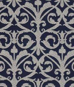 Robert Allen Pebble Walk Porcelain Blue Fabric | onlinefabricstore.net
