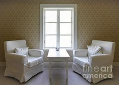 Two Interior Chairs A Table And A Window Photograph by Jo Ann Tomaselli - Two Interior Chairs A Table And A Window Fine Art Prints and Posters for Sale jo-ann-tomaselli.artistwebsites.com #joanntomaselli #fineartphotography #interiordesign