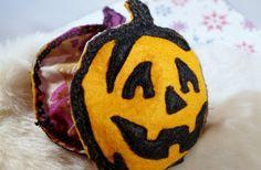 Pocket hand warmers Halloween Pumpkin Felted Wool and by MKTdesign, $14.50