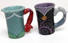 Ursula and Ariel coffee mugs! #Disney