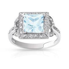 #BAGUE or 750 blanc aigue-marine et diamant #MATY #Bijoux - www.maty.com