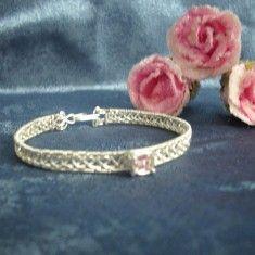 """Wire Wrapping Unikat -Armreifen """"Rosa"""""""