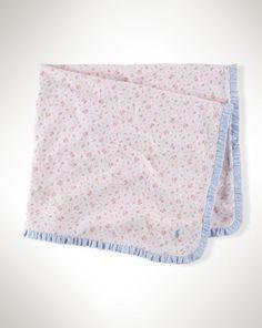 Floral Cotton Blanket - Baby Girl New Arrivals - RalphLauren.com
