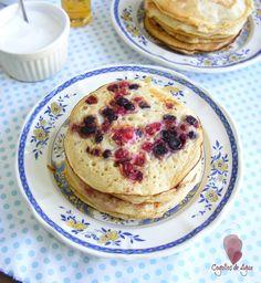 Cogollos de Agua: PANCAKES {Tortitas básicas y con frutos rojos}