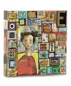 Take a look at the 'No Regrets' Patchwork Box Wall Art on #zulily today!