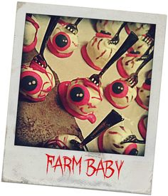 Eyeball Cake Pops! Complete instructions for how to make your own from scratch. I love the forks!