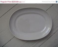 on sale homer laughlin platter white ironstone by rivertownvintage, $19.49