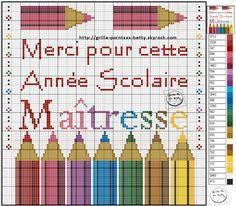 ecole  - Point de croix - Blog : http://broderiemimie44.canalblog.com/