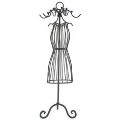 Black Dress Form Jewelry Holder | for general decor
