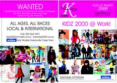Models / Characters- Cape Town and JHB