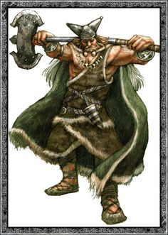 Búri's son Borr had three sons, the gods Odin, Vili and Vé. The three slew Ymir, and all of the jötnar except for Bergelmir and his wife were drowned in the blood.