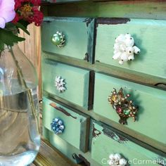 Drawer pull bling - how cute is this
