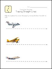 tracing lines write and wipe worksheets (several on this site)