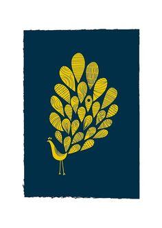 #navy #yellow #wallart