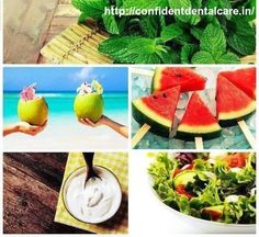 To Stay Cool- Eat #Cool. Here are the top 5 cooling snacks to indulge in this summer. • #Tender Coconut • #Watermelon • #Yogurt (Dahi) • #Mint • #Green Salads  ‪#summertime‬ ‪#summerdays‬ ‪ ‪#summersafety‬ ‪#summersafetytips‬ ‪ ‪#healthytips ‪ ‪‪#dentalcareclinic #oralcaresurgeonsbangalore #bangaloresummercooltips  Call for ‪#dentalcareclinic #oralcaresurgeonsbangalore  at +91-80 23011500 +91-94835 23368. Visit: http://bit.ly/1cy7bH6