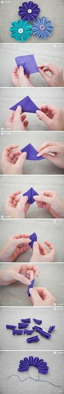 more DIY flowers!  Fun with fabric yo yos: inspiration, patterns, projects and tutorials