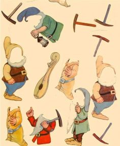 Filmic Light - Snow White Archive: 1938 Snow White & Seven Dwarfs Cut-Out Dolls