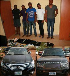 Photo - EFCC arrest 5 Yahoo boys in Enugu, recover Money,Exotic Cars - Mercy Johnson Celebrity Magazine - Mercy Johnson Celebrity Magazine