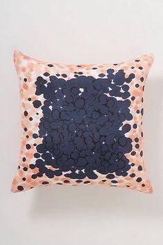 Peach Dip-Dot Pillow  #anthropologie