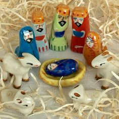 A personal favourite from my Etsy shop https://www.etsy.com/au/listing/545870018/miniature-ceramic-nativity-set