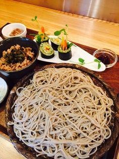 十割蕎麦と高菜酵素玄米ご飯