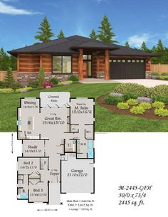 10 best House Design Plans images on Pinterest   Home design plans     A really well designed Empty Nester One story    House Design PlansCustom