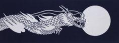 Dragon fabric japanese tenugui Japanese by japanmomijidesigns