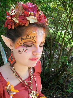 Fairy makeup - the ears are a nice finish.