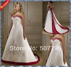 Cheap wedding dresses ma, Buy Quality dress social directly from China wedding dresses cocktail length Suppliers:  >Model Shown<2014 new sweetheart embroidery cheap red and white wedding dresses   &