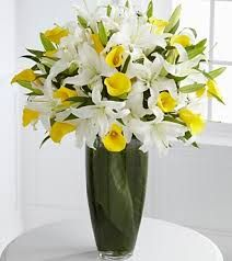 Send bouquet flowers and arrangements from FTD. Give a flower bouquet to delight any occasion. Summer Flower Arrangements, Flower Vases, Floral Arrangements, Flower Shop Decor, Calla Lily Bouquet, Calla Lilies, Oriental Lily, Ceramic Flowers, Bright Yellow