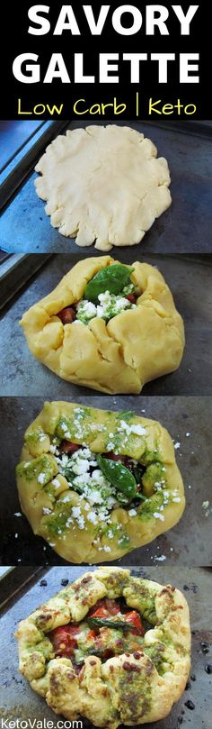 Delicious Tomato Basil and Cheese Savory GaletteRecipe - low carb and ketogenic diet friendly!