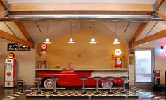 A soda fountain made out of a 1956 Chevy... too cool.