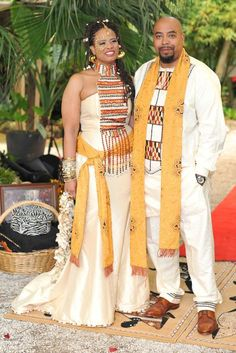 Ethnic And African Inspired Wedding Attire For Bride Groom African Wedding Attire, African Attire, African Dress, African Style, African American Weddings, African Weddings, Ethnic Wedding, Nontraditional Wedding, Traditional Wedding Dresses