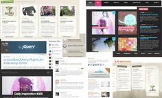 Web design mood board