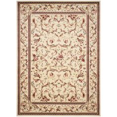 Safavieh Lyndhurst Ivory Rectangular Indoor Machine-Made Area Rug (Common: 10 x 14; Actual: 10-ft W x 14-ft L)
