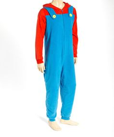 This Mario One-Piece Pajamas - Men is perfect! #zulilyfinds
