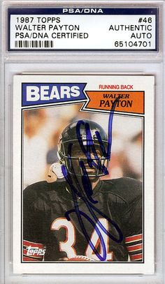 2b5cf4ca4 Walter Payton Autographed 1987 Topps Card PSA DNA  65104701