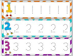 Number and letter tracing freebies.
