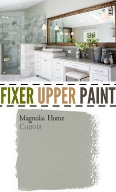 Fixer Upper Season Four Paint Colors Best Matches For Your Home – The Weathered Fox Fixer Upper Paint Cupola in bathroom Small Basement Remodel, Basement Remodeling, Remodeling Ideas, Basement Plans, Basement Storage, Kitchen Remodel, Bedroom Paint Colors, Paint Colors For Home, Room Colors