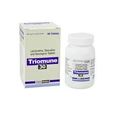 What is Triomune used for? Triomune is a fixed dose combination treatment for Human Immunodeficiency Virus (HIV) infection in adults. Triomune tablets are used to treat HIV patients who have already been treated with other HIV medications and have responded well to each of the drugs in the combination; and are also able to tolerate each of these medications, at the recommended doses without requi