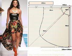 Asimetrik Etek Pelerin Model ve Kalıpları