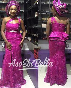 156 – The Latest Aso Ebi Styles Latest African Fashion Dresses, African Dresses For Women, African Attire, African Wear, Nigerian Bride, Beautiful Long Dresses, Lace Dress Styles, African Wedding Dress, Africa Dress