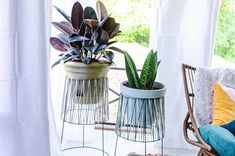 25 Awesome Things You Can DIY in 1 Hour or Less | Hometalk Stone Planters, Indoor Planters, Garden Planters, Easy Woodworking Projects, Diy Projects, Chandelier Planter, Craft Cabinet, Mid Century Modern Dresser, Diy Plant Stand