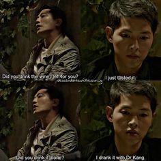 """I just tasted it."" #Descendants Of The Sun #korean #drama"
