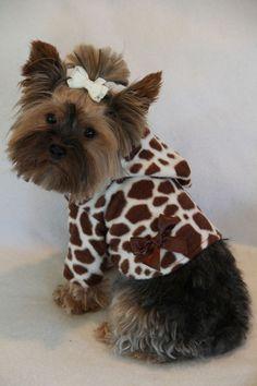 Giraffe Print Hoodie Coat