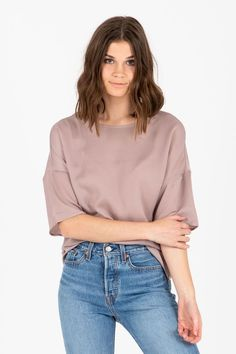 f6a7ef76939877 The Pretty Penny Crepe Blouse in Rose | The Pretty Penny Crepe Blouse  features a simple. Piper & Scoot