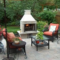 Outdoor Fireplace Kits, Easy to assemble outdoor fireplaces - Outdoor Living at MantelsDirect