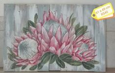 purpleworx Painting Flowers, Abstract Flowers, Silk Painting, Flower Paintings, Protea Art, Protea Flower, Ballerina Painting, Farm Paintings, Cute Drawings